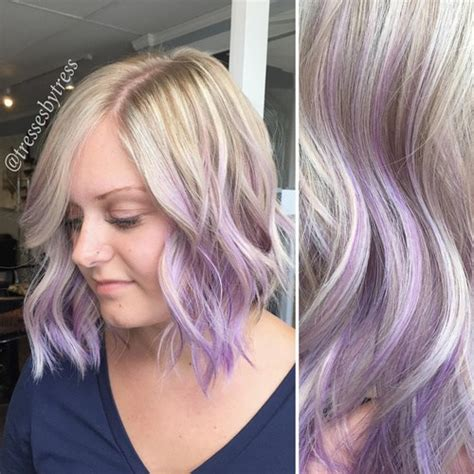 Blonde Hair With Purple Highlights Pretty Designs