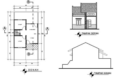 denah rumah minimalis type   kamar desain denah rumah