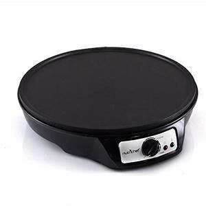 NutriChef Crepe Maker Pancake Maker Electric Griddle ...