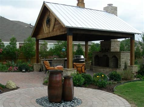 Outdoors Patio : Outdoor Fireplace Plans Pictures, Outdoor Bar Patio Design
