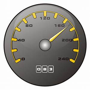 Vector for free use: Speedometer
