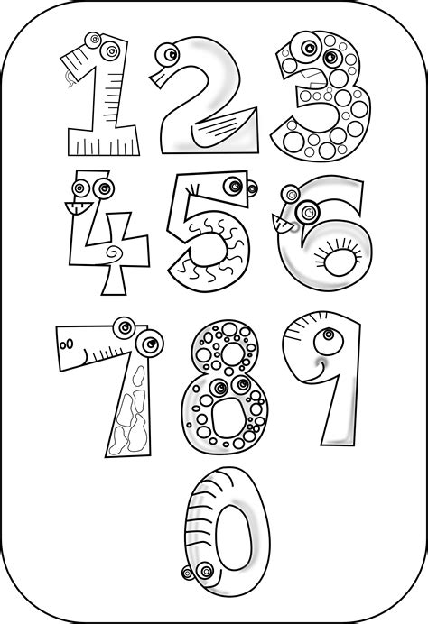 black  white numbers clipart clipground