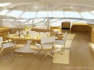 Yacht De Luxe Interieur : trimaran futuriste yacht de luxe design adastra ~ Dallasstarsshop.com Idées de Décoration