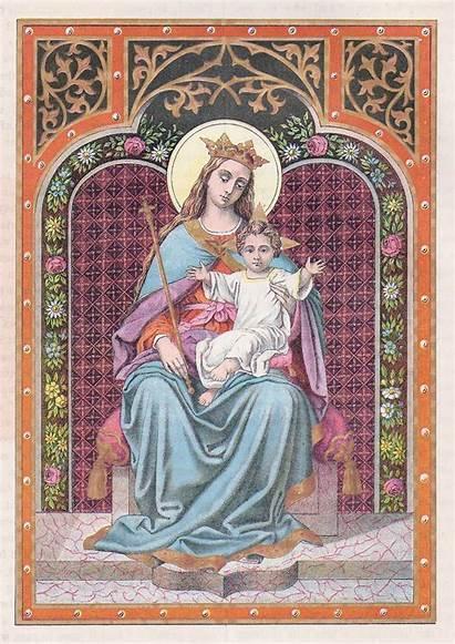 Clip Religious Catholic Mary Illustrations Bible Antique