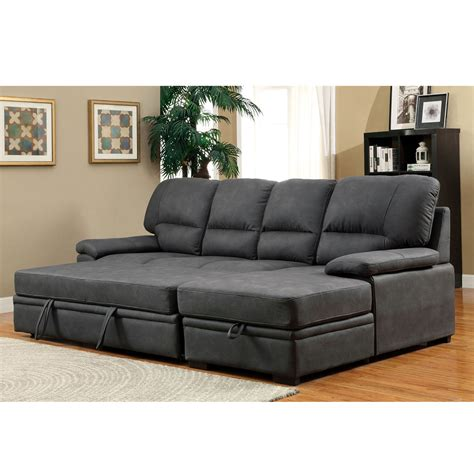 Chaise Sofa Sleeper With Storage by Alcester Sectional Sofa Pull Out Sleeper Bed Chaise