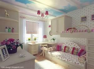 idee deco pour une chambre de petite fille With idee pour petite chambre