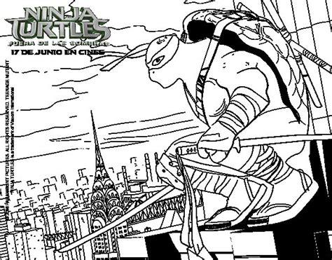 Disegno di Leonardo Ninja Turtles da Colorare Acolore com
