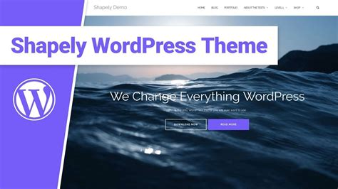 Shapely Theme Shapely Theme Review Responsive One Page