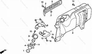 Honda Scooter 1993 Oem Parts Diagram For Muffler