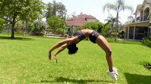 Tips for a Standing Back Handspring - YouTube