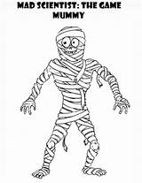 Coloring Pages Mummy Mad Scientist Printable Egyptian Mummies King Tut Does Colors Getcoloringpages sketch template