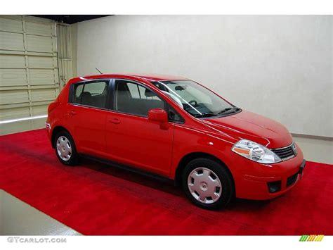 red nissan versa 2009 red alert nissan versa 1 8 s hatchback 7018842
