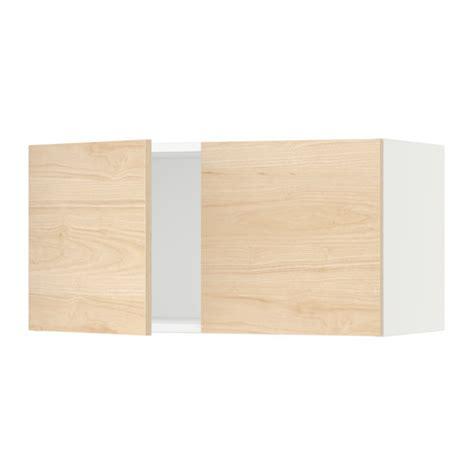 armoire murale cuisine sektion armoire murale 2 portes blanc askersund