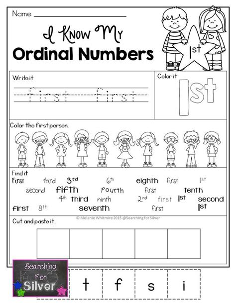 ordinal numbers printables and activities activities