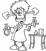 Mad Scientist Coloring Pages Popular sketch template