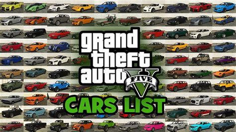 Gta 5 Cars List, Vehicles List, Cars In The Grand Theft