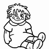 Rag Coloring Doll Surfnetkids Pages Ragdoll sketch template