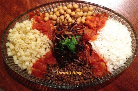 national dish  egypt koshary   recipe