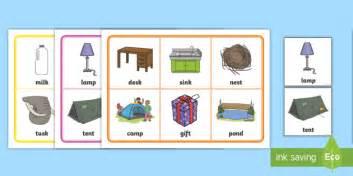 Cvcc Words Bingo  Consonant, Blend, Cluster, Phonics, Phase 4