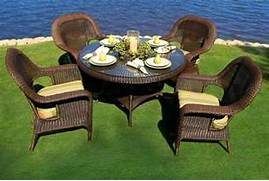 Resin Rattan Dining Chairs by 5 Piece Outdoor Patio Garden Furniture Java Resin Wicker Dining Table Chairs