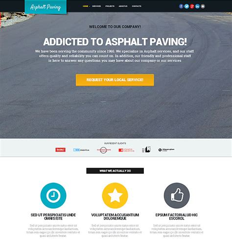 asphalt paving website template flashmint