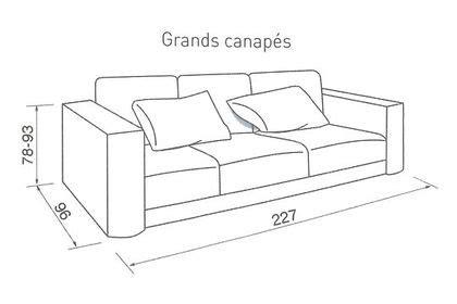 taille canape quelle taille pour mon canapé côté maison