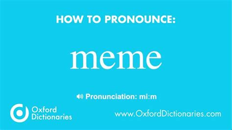 Meme Pronunciation - how to pronounce meme youtube