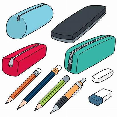 Pencil Case Vector Cartoon Illustration Illustrations Clipart