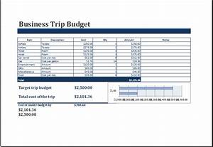 Ms excel printable business trip budget template excel for Business trip expenses template