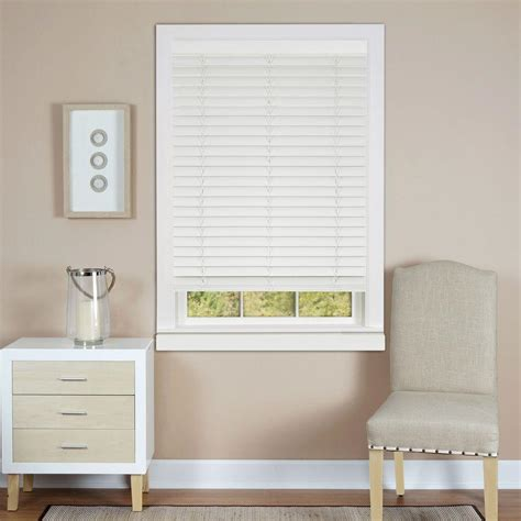 white wooden blinds achim white cordless 2 in faux wood madera falsa