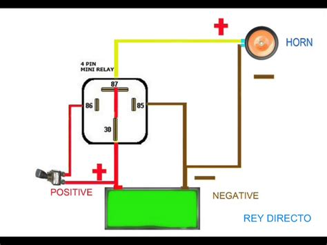 basic wiring diagram for car horn horn relay simple wiring throughout car air