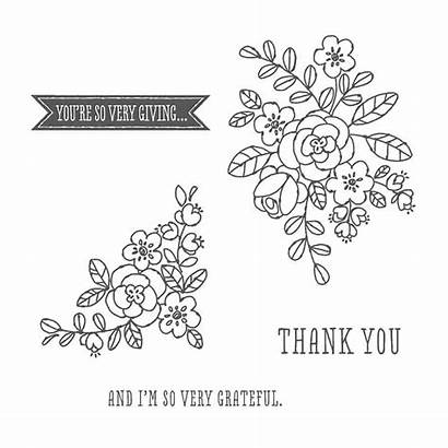 Grateful Very Stampin Thank Stamp Supplies Using