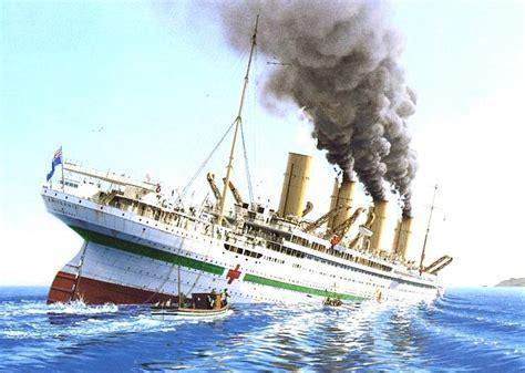 britannic mine sinking u boats attack white star line