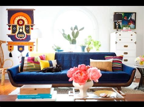 living room ideas  navy blue sofa youtube