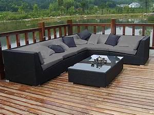 beautiful salon de jardin avec canape contemporary With charming canape d angle exterieur resine 8 canape en resine tressee 14 avec canap 2 places salon