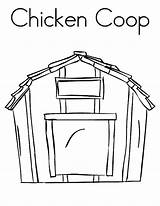 Coloring Barn Chicken Pages Coop Farm Netart Colouring Outline Door Template Stable Printable Sheet Horse Animal Sketch Drawing Getdrawings Templates sketch template