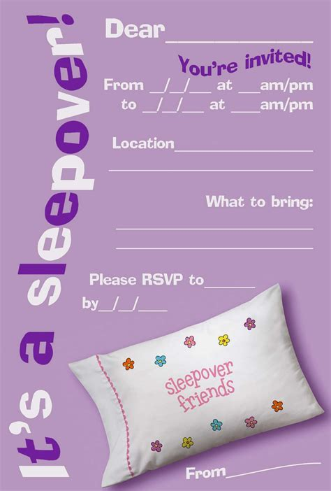 printable birthday invitations  teenage girls
