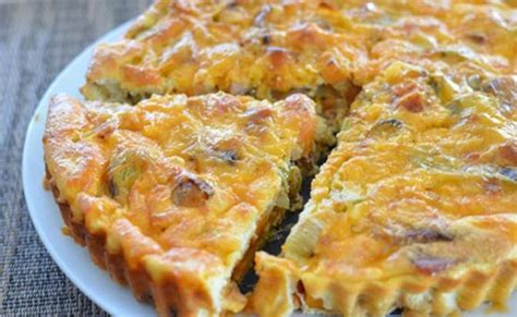 quiche au poisson sans pate quiche sans p 226 te au chignon ww recette weight watchers