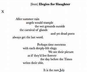 Image Gallery elegy poetry