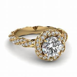 yellow gold round white diamond engagement wedding ring in With round wedding rings white gold
