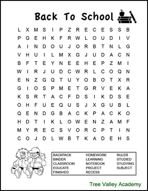 school word search puzzles  images word