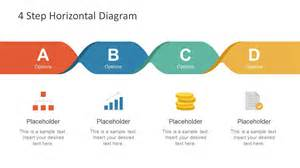Free 4 Step Horizontal Diagram For Powerpoint