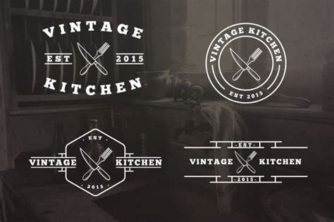 kitchen logos  editable psd ai vector eps