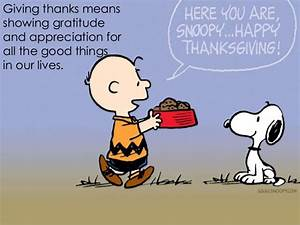Giving thanks means showing gratitude