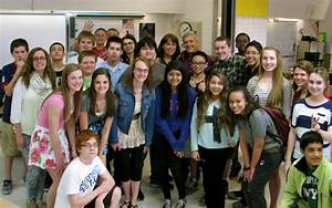Middle School Teacher With Students