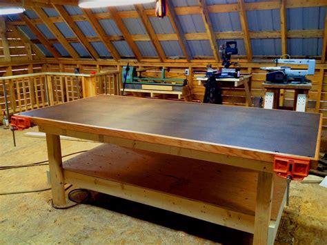 shop table on wheels heavy duty shop table diy woodshop youtube