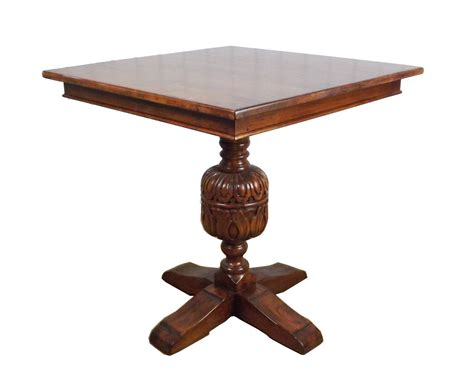 Cup & Cover Square Top Pedestal Table