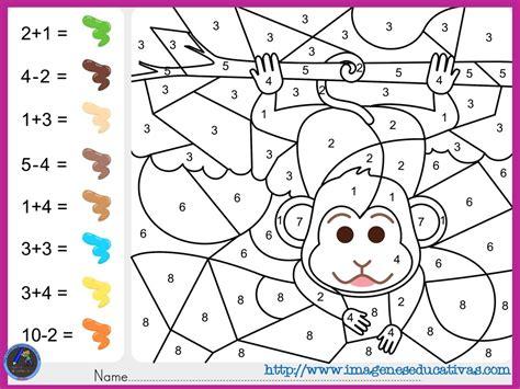 Fichas-de-matematicas-para-sumar-y-colorear-dibujo-2