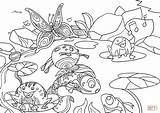 Coloring Pond Colorare Stagno Printable Disegno Drawing Disegni Nello Adult Paper Kitsune Crafts sketch template