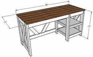 Farmhouse X Office Desk - Handmade Haven